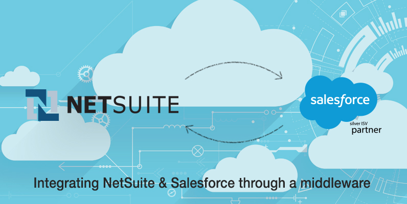 integrating NetSuite and Salesforce through a middleware