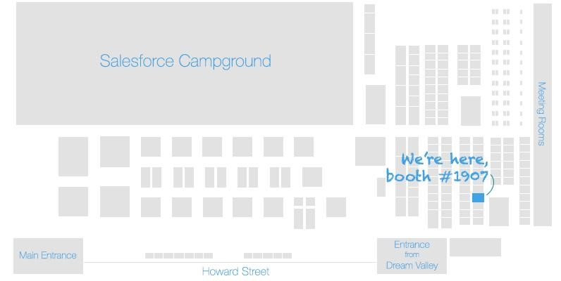 Dreamforce expo floor map, DBSync