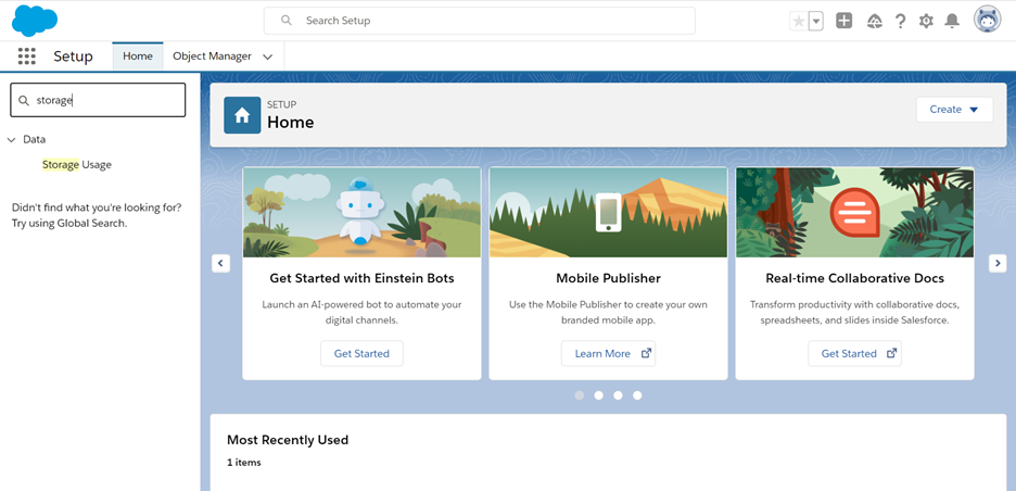 Where to Access Your Storage Usage Report in Salesforce Classic 2