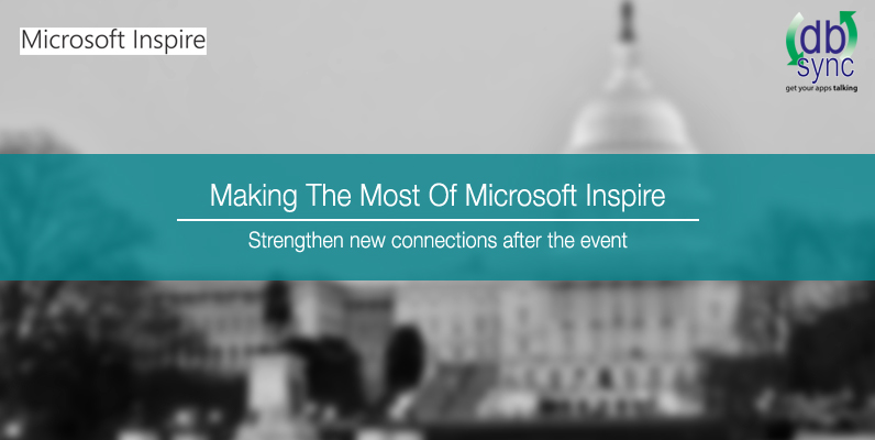 Microsoft Inspire 2017, DBSync, Microsoft Dynamics 365