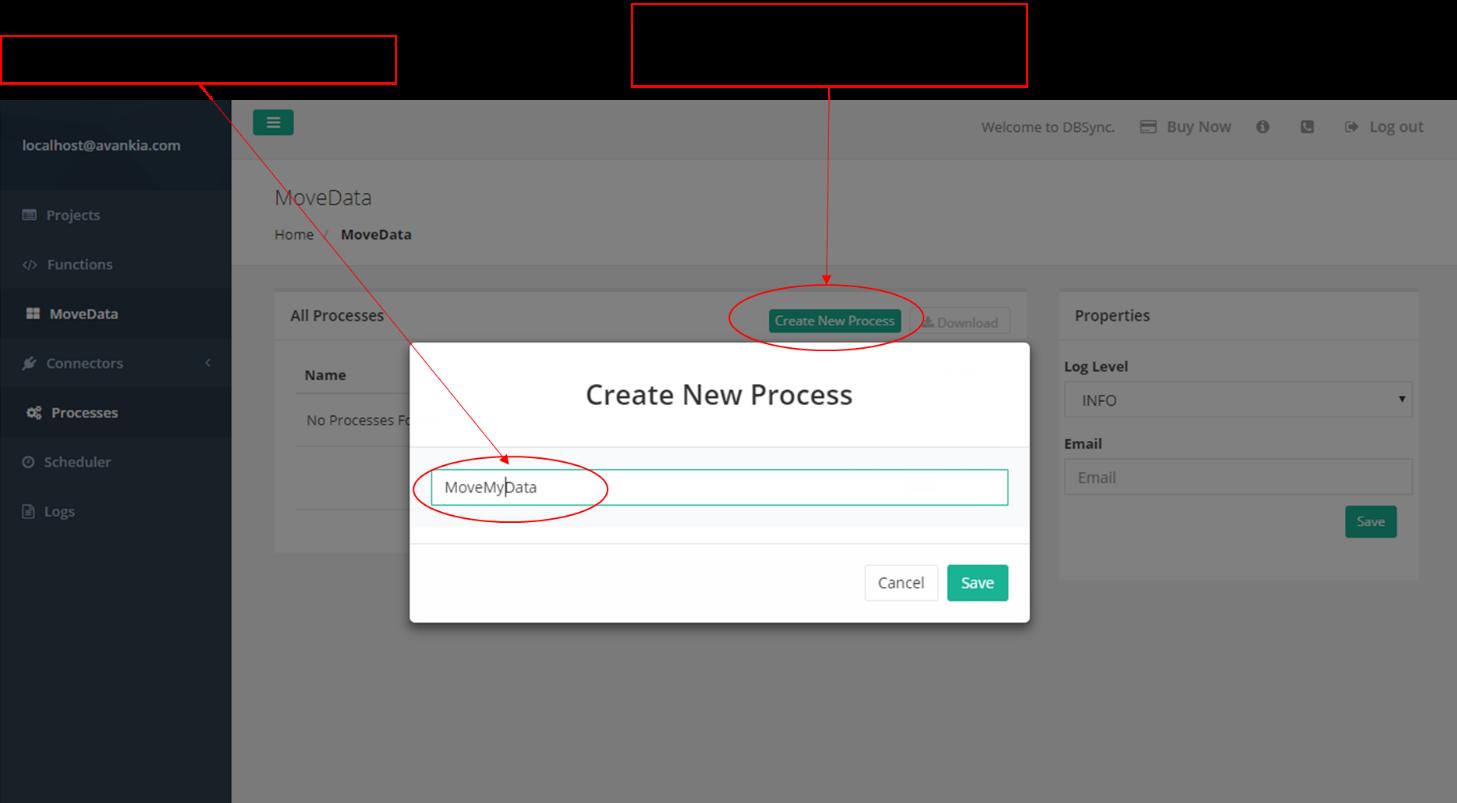 Figure 9 – Create a new process.