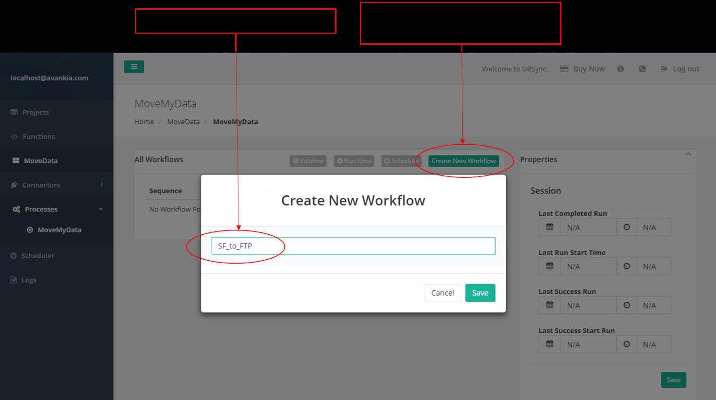 Figure 11 – Create new workflow.